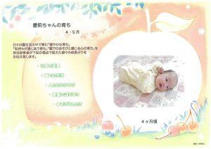 家庭とは違った表情を見せる子どもを 園で撮影して掲載するページ